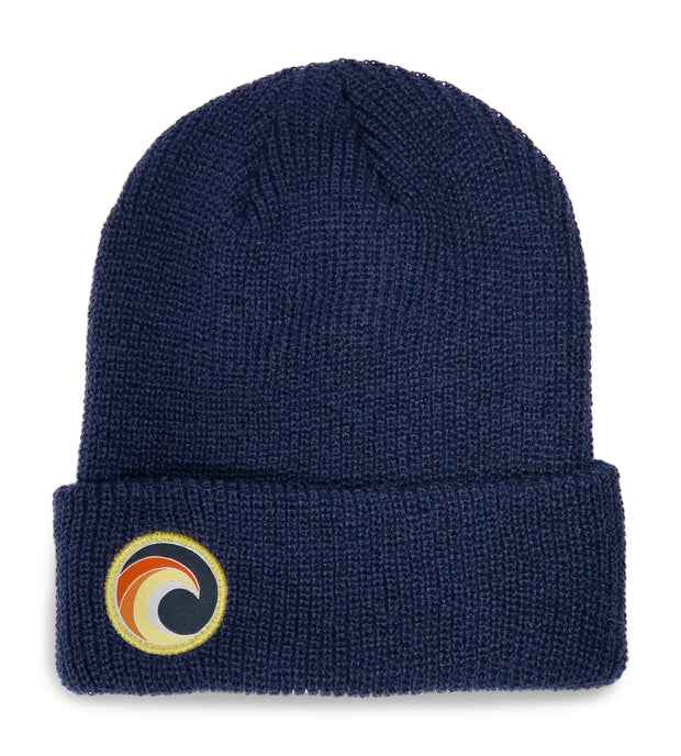 Navy Knit Beanie Wave