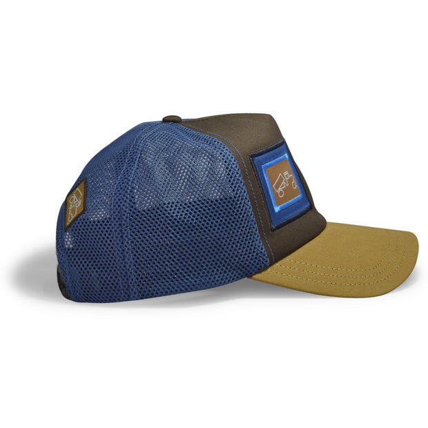 Coffee Tan Blue Pioneer Mesh
