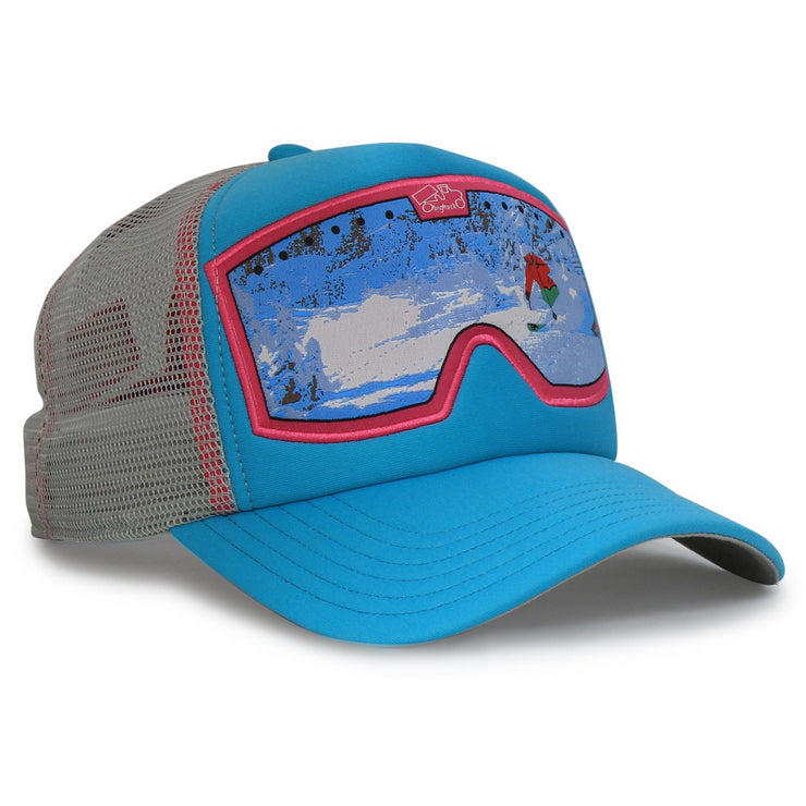 kids original goggle trucker snapback hat