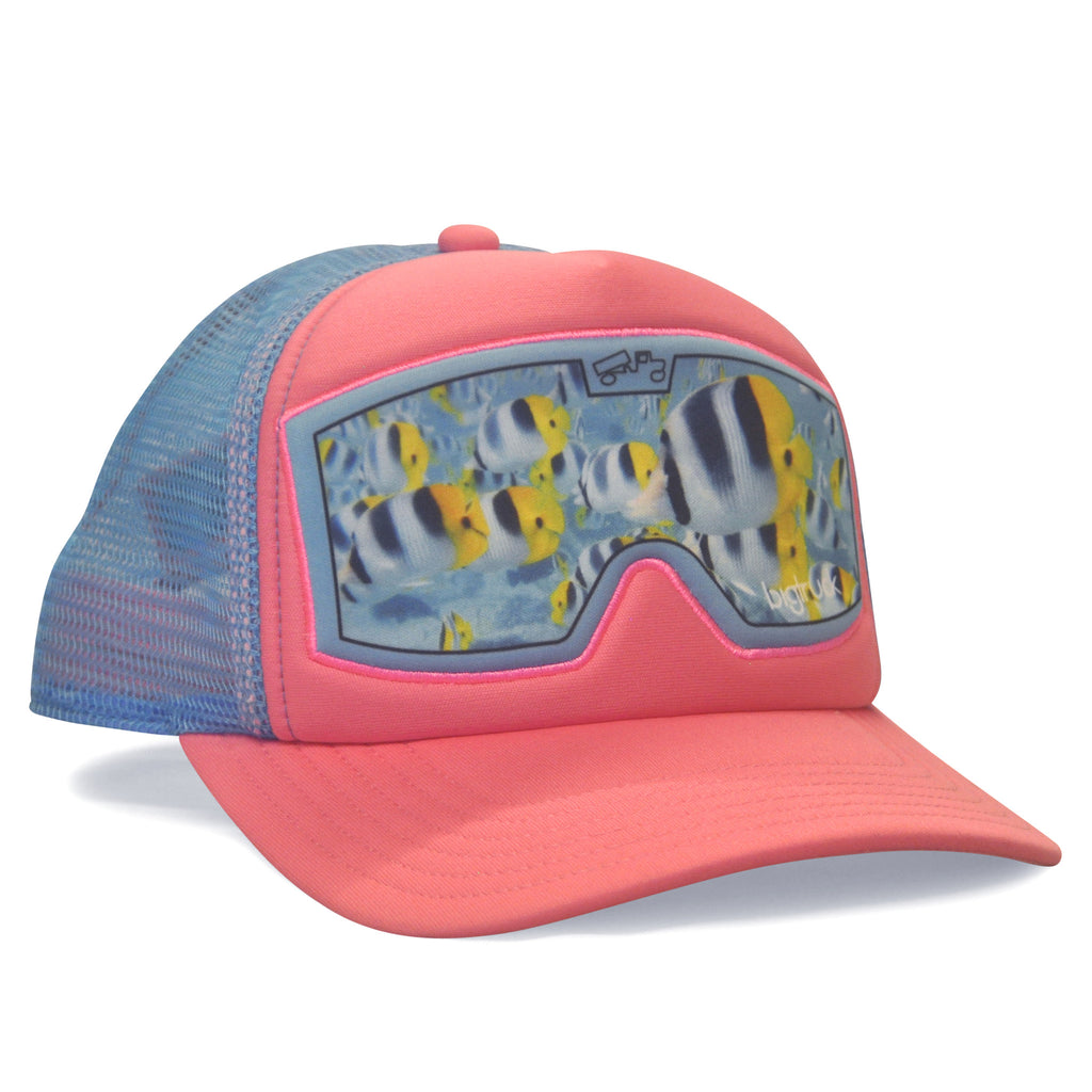 Original kid pink fish goggle bigtruck for Youth fishing hats