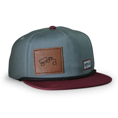 Leather Patch Light Blue Burgundy Pioneer EVA