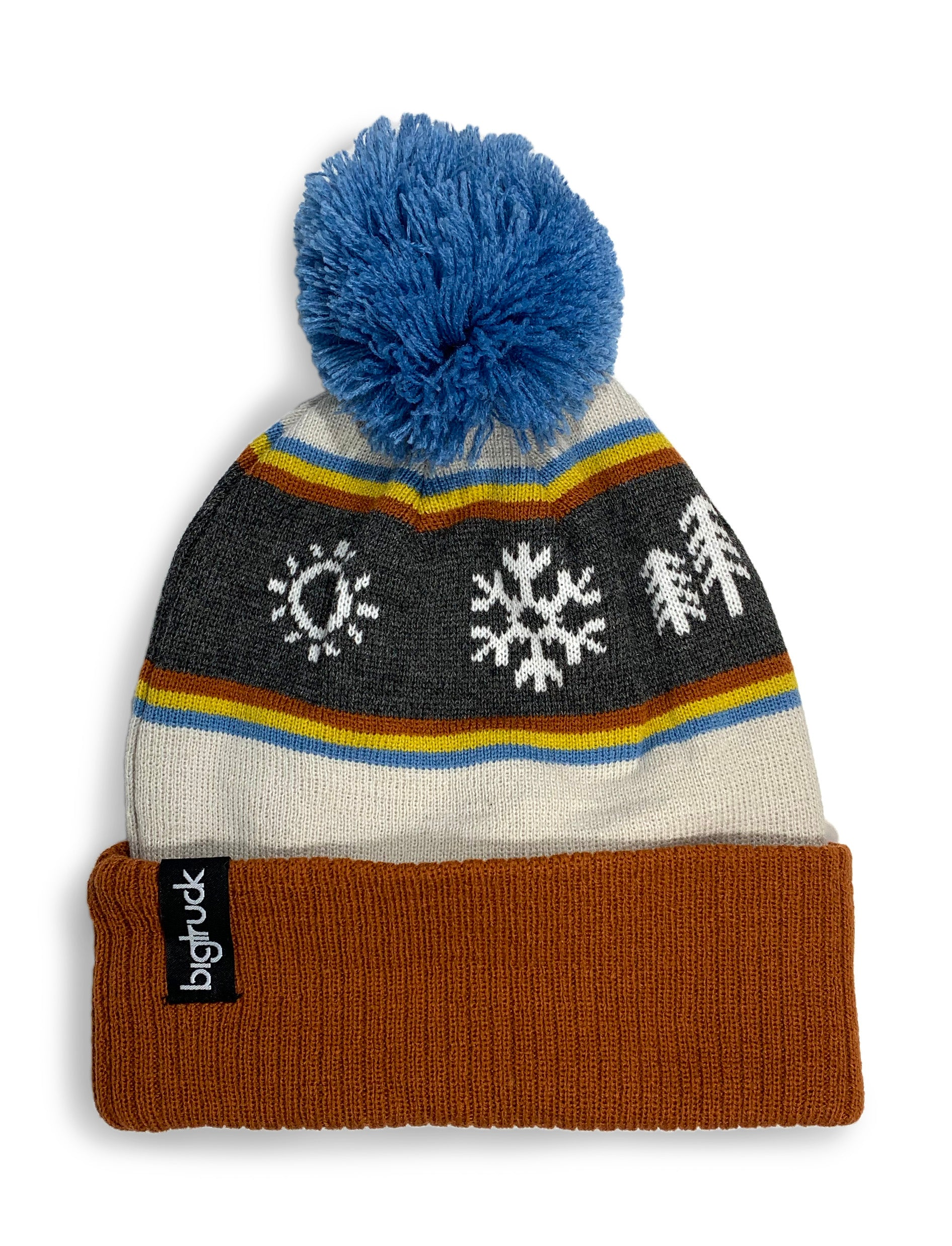 Pom Beanie Retro Mountain