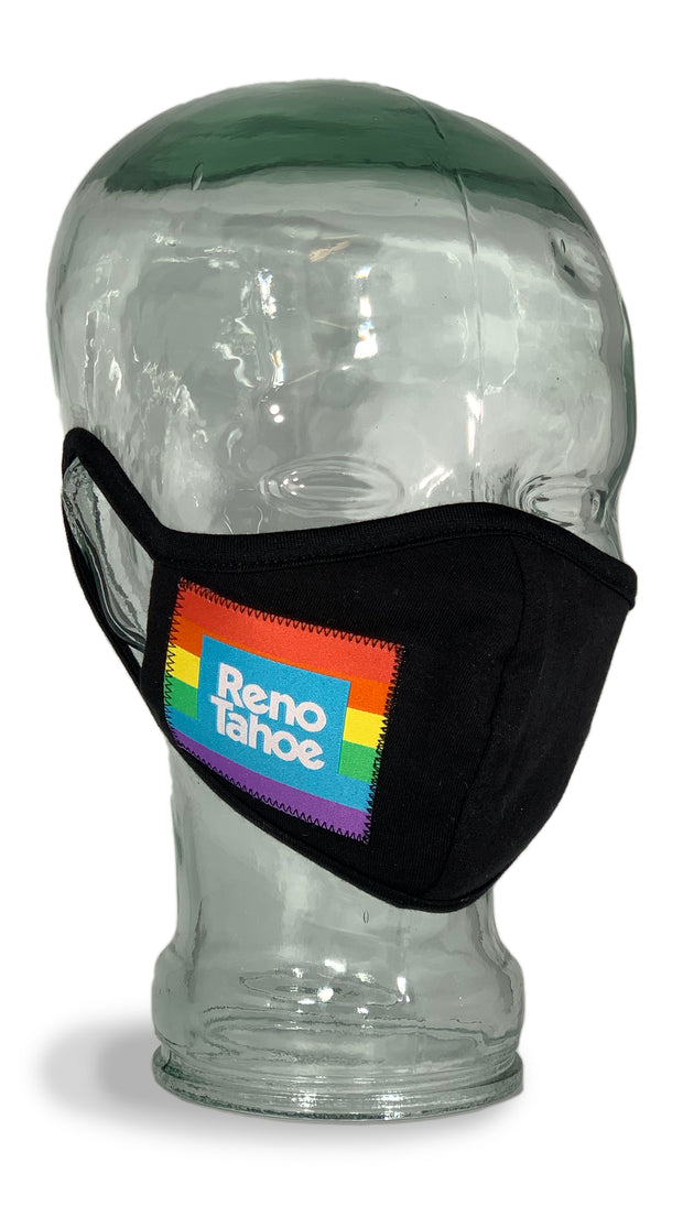 Reno Tahoe Pride Cloth Facemask Black