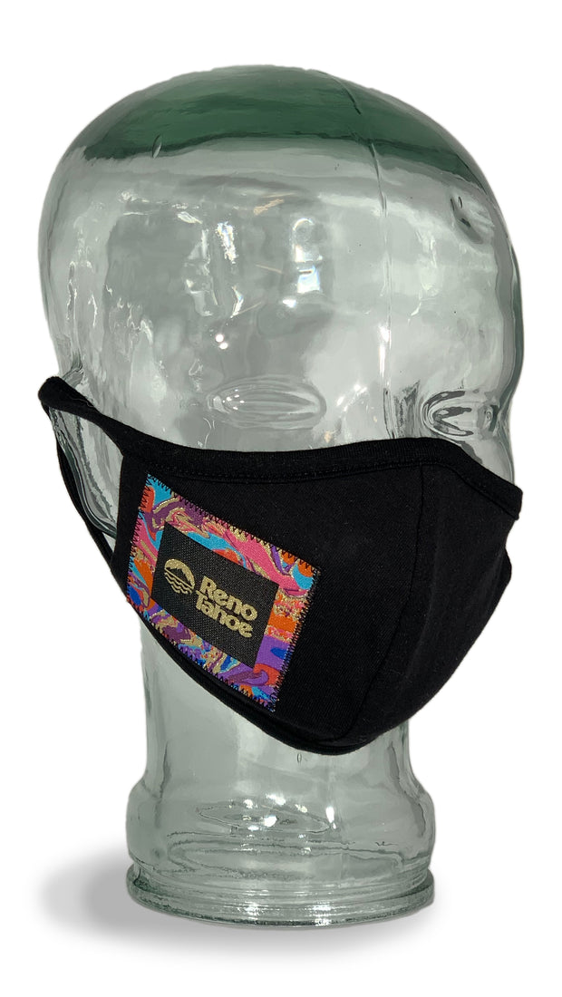 Reno Tahoe Swirl Cloth Facemask Black