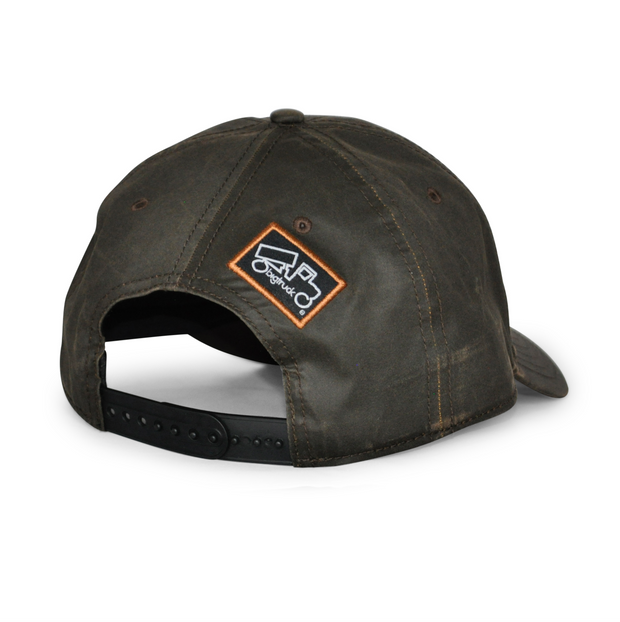 Brown Waxed Cotton Cap