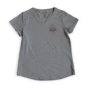 Womens California Mountain Life V Neck Tee