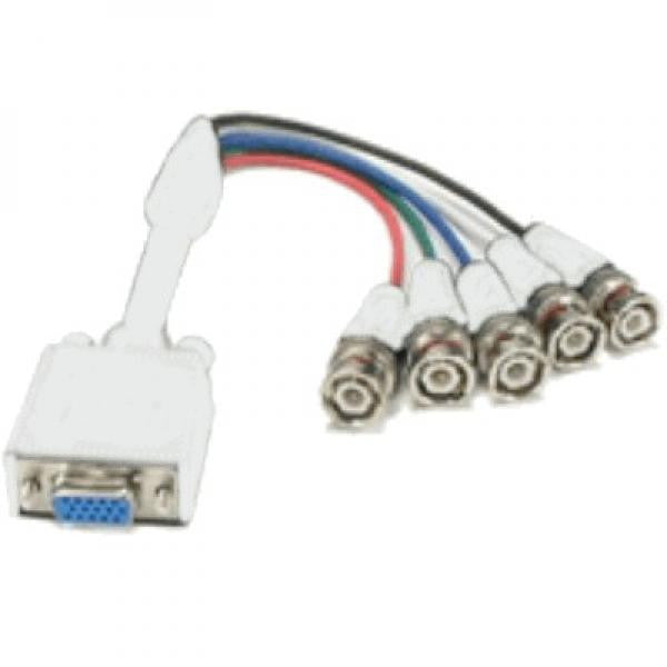 1' VGA to BNC Cable (HD15 F to 5-BNC Connectors)