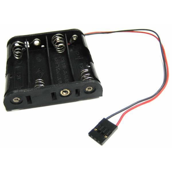 1.5V AA Battery Holder (4 Batteries) with Power Plug