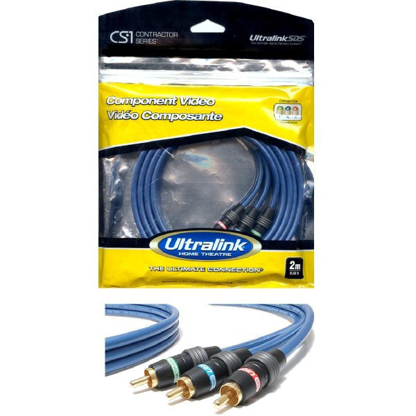 10 ft. Component RCA Video Cable (Red/Green/Blue) - Ultralink CS1 Contractor Series