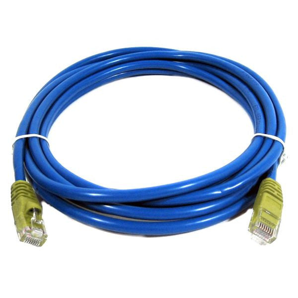 10' Cross-Wired CAT5e (350MHz) UTP Ethernet Network Cable - Blue - TechCraft