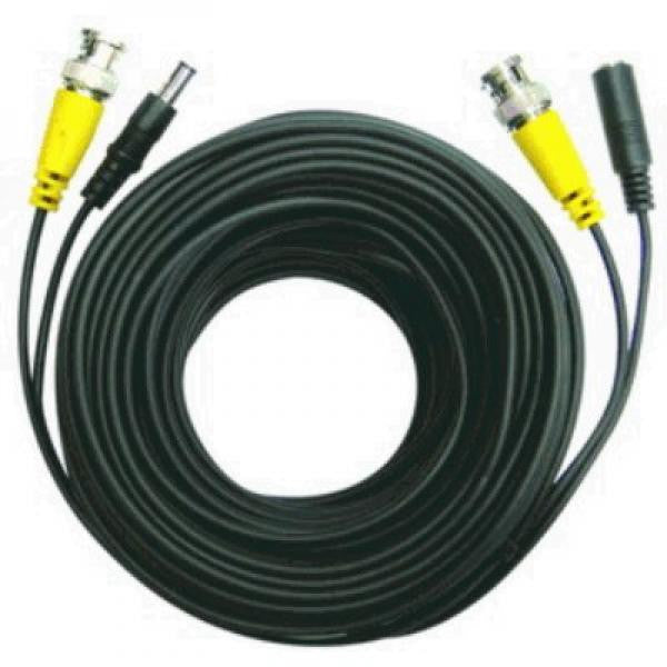 100' Security Camera Cable with Power - BNC M/DC 5.5x2, 2 in 1