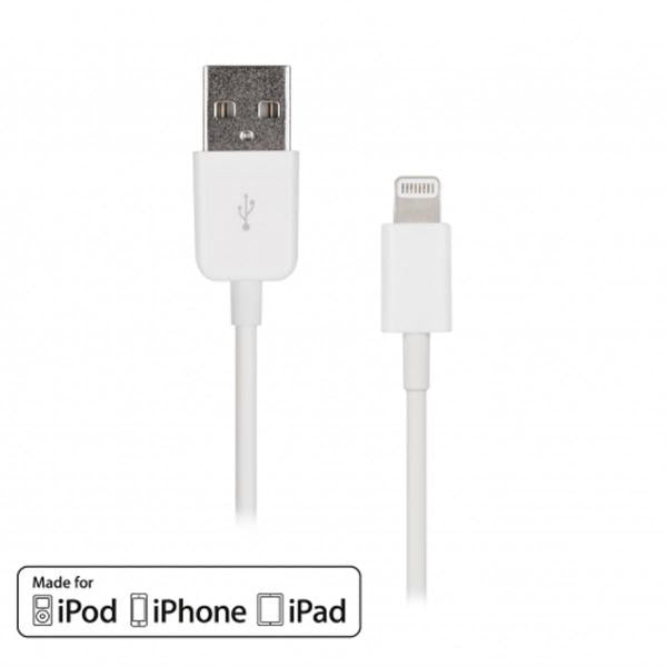6' USB 2.0 Lightning Cable - Male/Male - TechCraft - White