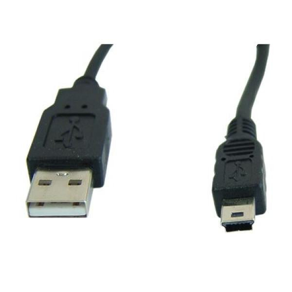 10' USB 2.0 Cable (A) to Mini USB 5 Pin Connector - TechCraft