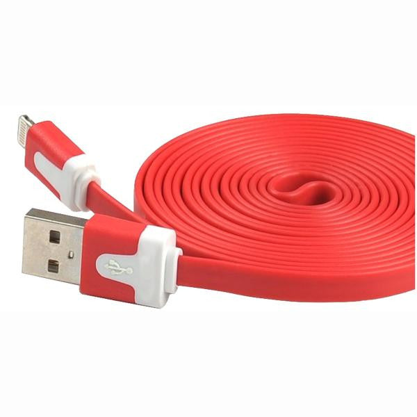 6' USB 2.0 Lightning Cable - Male/Male - Red