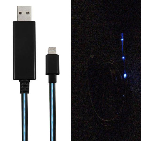 3' LED USB 2.0 Lightning Cable - Male/Male - Black