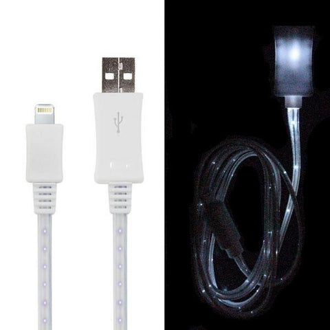 3' LED USB 2.0 Lightning Cable - Male/Male - White