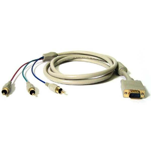 10' VGA Monitor to RCA Component Video Cable  (HD15M to 3 X RCA) - TechCraft