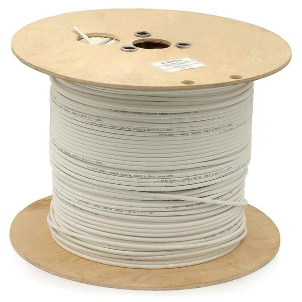 1000 ft. 12AWG Plenum Speaker Wire - 2 Conductor - In-Wall Rated - White
