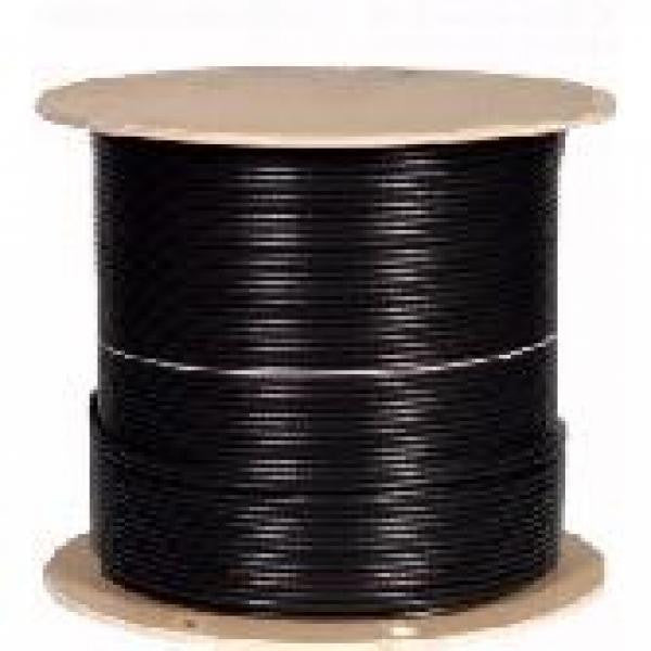 1000' Solid - CAT5e Network Cable - Outdoor Direct Burial - CMX - Shielded - Black