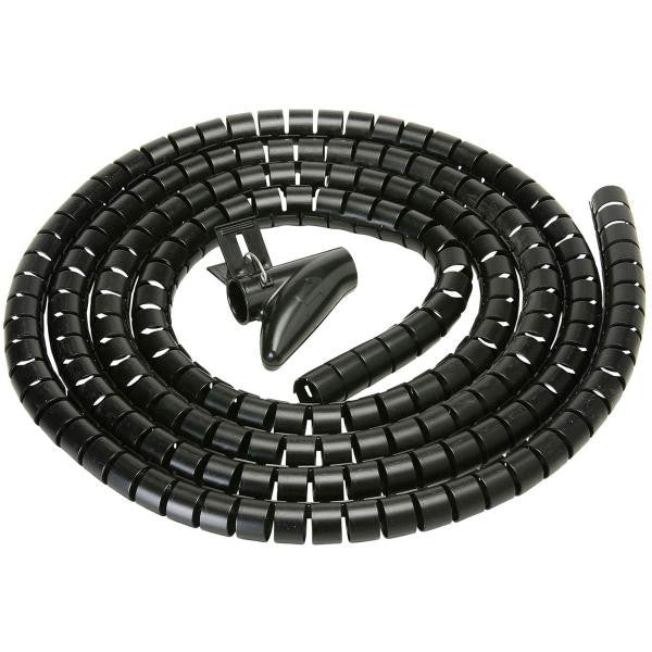 "100 ft. Cable Wrap - 1.25"" Diameter - Black"