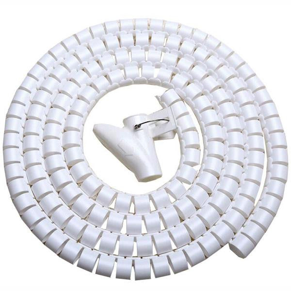 "100 ft. Cable Wrap - 1.25"" Diameter - White"