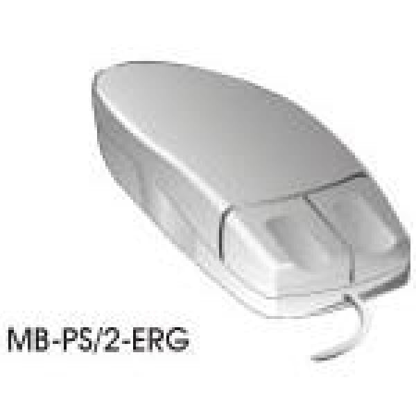 2 Button Ergonomic Left Hand Mouse - PS/2