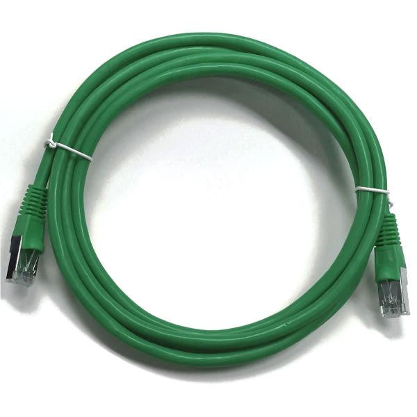 0.5' CAT5e (350 MHz) STP Shielded Network Cable - Green