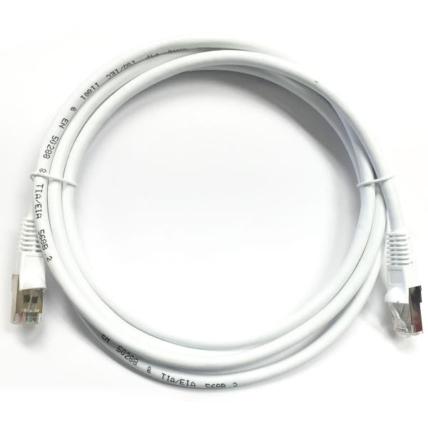 2' CAT6 (500MHz) STP Shielded Network Cable - White