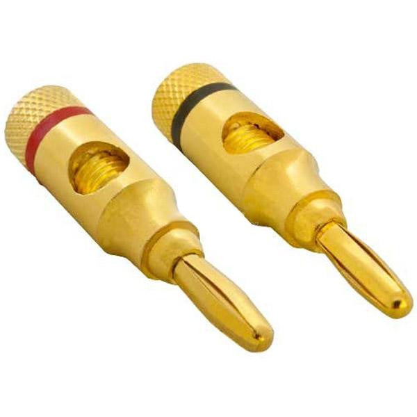 1 Pair of High-Quality Copper Speaker Banana Plugs - Open Screw Type