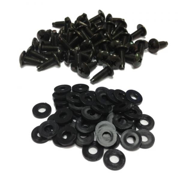 10/32 Screws with Washers for Network Peripherals - 50 Pack