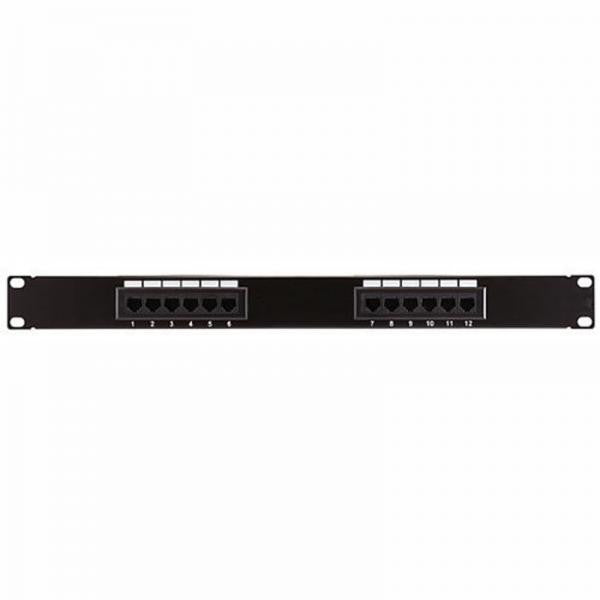 12 Port (1U) Patch Panel - CAT6 110 T568A or T568B