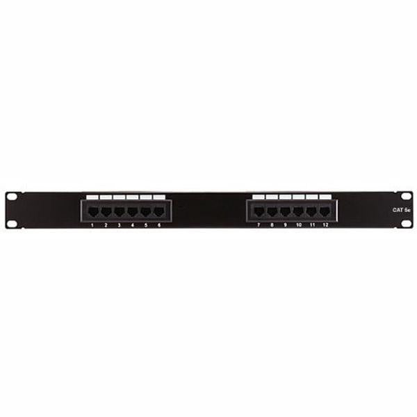 12 Port (1U) Patch Panel - CAT5e 110 T568A or T568B