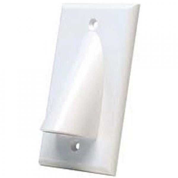 1-Gang Bulk Cable Pass Through Wall Plate - White