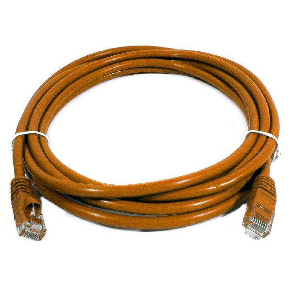 10' CAT5e (350 MHz) UTP Network Cable - Orange - TechCraft