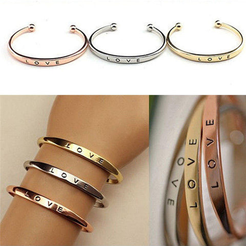 Engraved Open Ended Bangle Bracelet