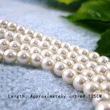 Long Pearl Knotted Necklace