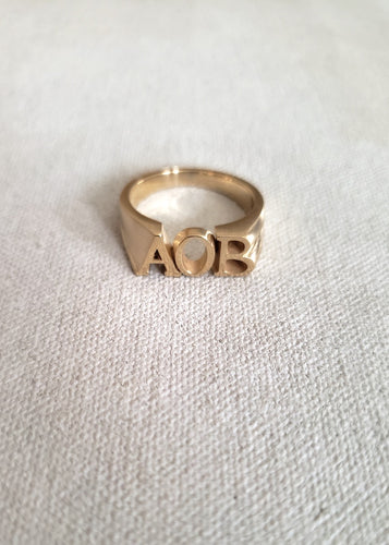 Corrie Initial Ring