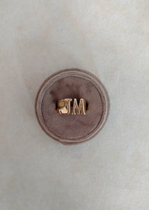 Johnny Initial Ring (Largest Size)