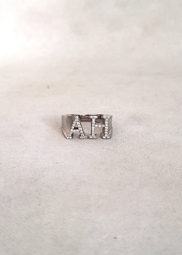 Diamond Johnny Initial Ring (Largest Size)