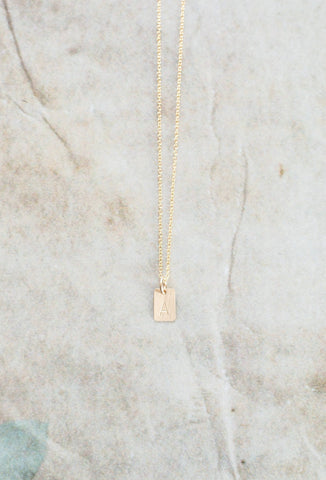 Single Initial Charm Necklace