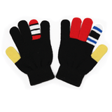 Warmsters Fingi Fingersen Black Stripy Gloves Pair