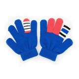 Warmsters Booris Blue Stripy Gloves Pair