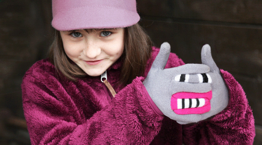 Scarrie Grey monster gloves
