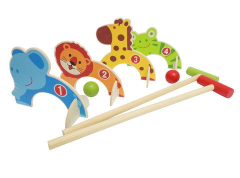 Toddler Wooden Animal Croquet