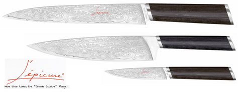 L'Epicure Forged Steel Damascus Blade Kitchen Knives