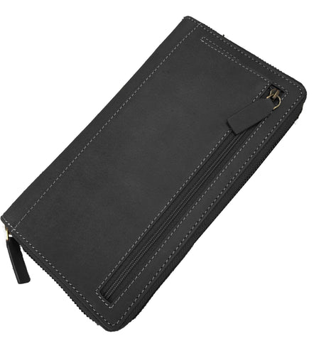 Buffalo Hide Leather Travel Wallet