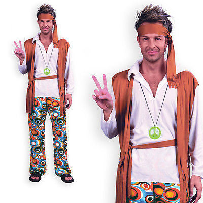 Mens Budget Hippie Costume