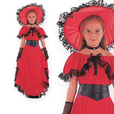 Girls Scarlet O'Hara Costume