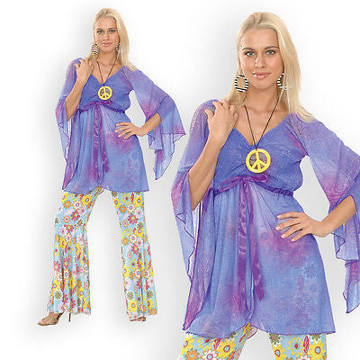Ladies Hippie Costume with Pendant