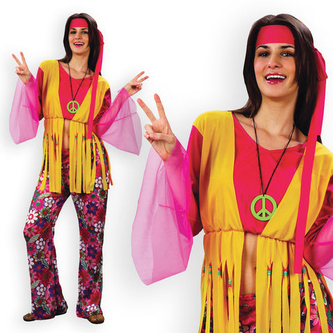 Ladies Budget Hippie Costume